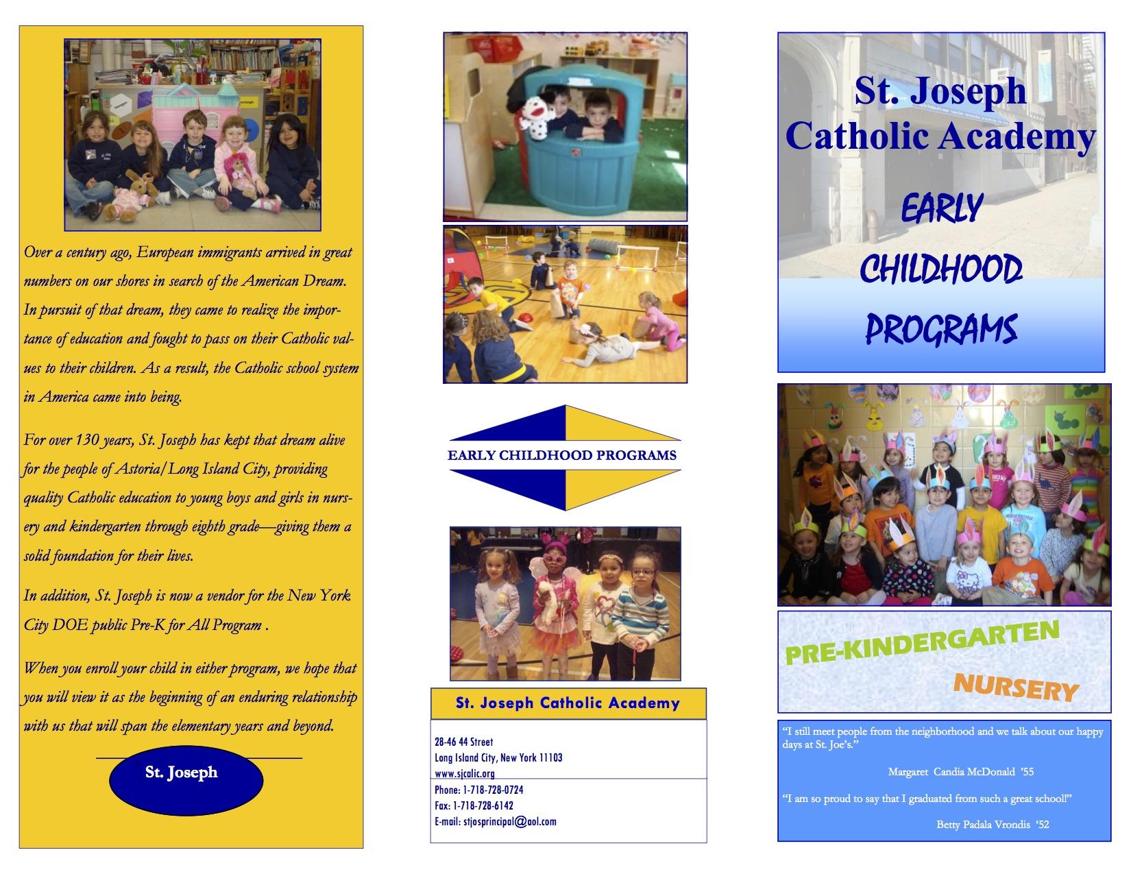 St. Joseph Catholic Academy Early Childhood Program